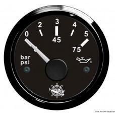 Indicador de Pressão de Óleo - 0,5 bar - preto/preto - Osculati