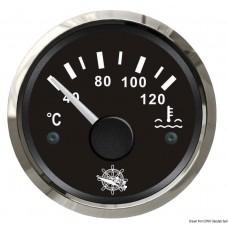 Medidor de Temperatura da Água 40/120° -  Preto / Cromado - Osculati
