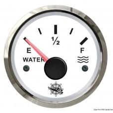Medidor de nível de Água 240/33 Ohm Branco / Cromado - Osculati