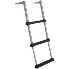 Escada Popa Telescópica - 3 Degraus Plástico Preto - Windline