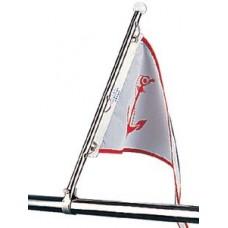 Mastro em aço inox com braçadeira de corrimão - Sea-DogLine