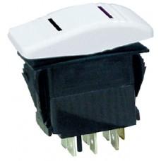 Interruptor Basculante Contura - Branco - 7 Terminais - Seachoice
