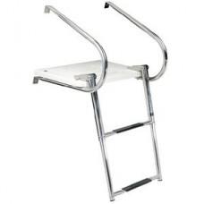 Escada e Plataforma de Banho em Aço Inox - 2 Degraus - Seachoice