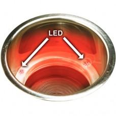 Suporte de Bebidas em Aço Inox com Led - Luz Vermelha - Seachoice