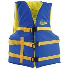 Colete Salva-vidas - Azul/Amarelo - Adulto Universal - Seachoice